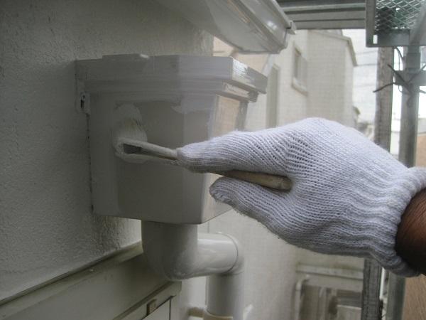 徳島県徳島市 外壁塗装・付帯部塗装 下地処理 雨樋塗装 付帯部塗装を行う意味