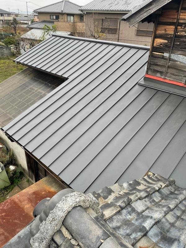 徳島県名西郡 屋根葺き替え工事 工程 F☆☆☆☆とは ガルバリウム鋼板