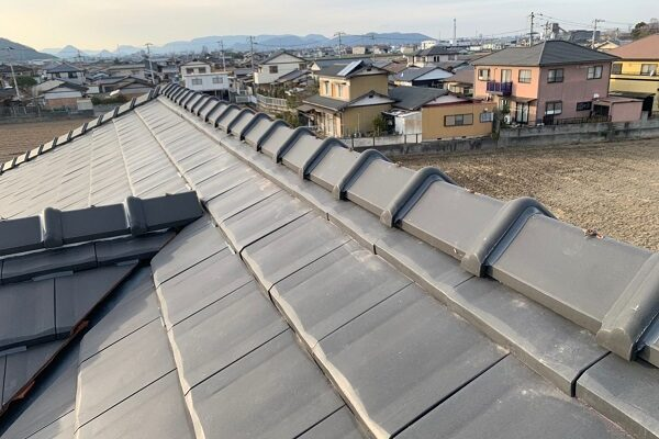 徳島県徳島市 M様邸 屋根工事 棟積み替え 瓦屋根 漆喰工事 (3)