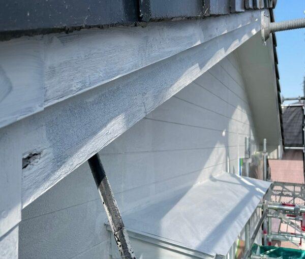 徳島県小松島市 Y様邸 破風板工事 金属板金巻き ガルバリウム鋼板 (2)