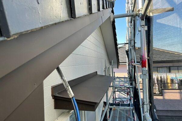 徳島県小松島市 Y様邸 破風板工事 金属板金巻き ガルバリウム鋼板 (1)