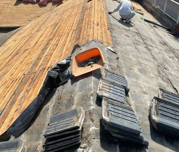 徳島県阿南市 B様邸 屋根葺き替工事 工程 立平嵌合式 (1)