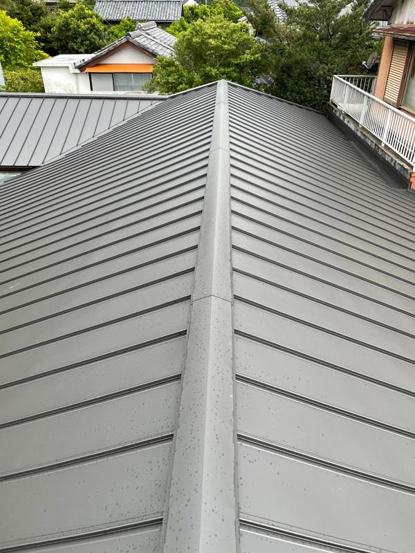 徳島県阿南市 B様邸 屋根葺き替工事 工程 立平嵌合式 (3)