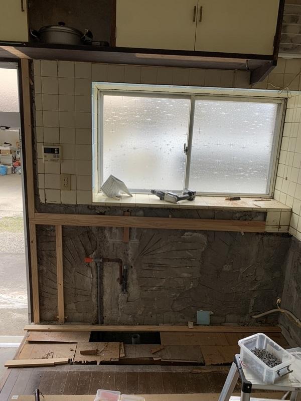 徳島県小松島市 N様邸 キッチン改修工事 施工の様子 完工 (1)