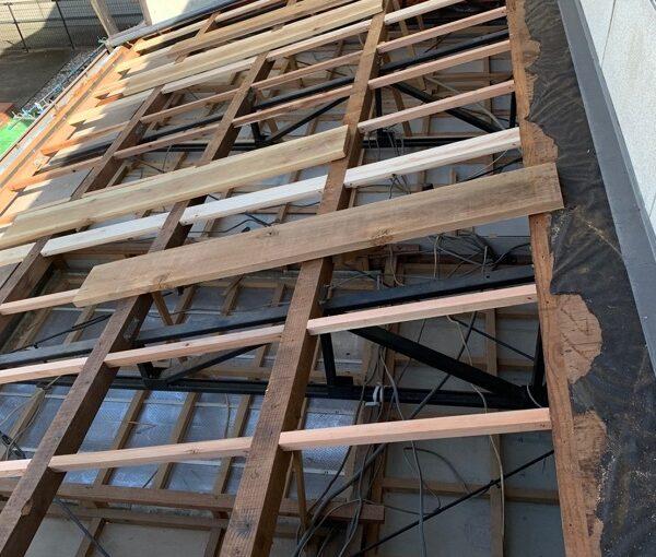 徳島県小松島市 N様邸 屋根葺き替え工事 下地の補強・張替え 野地板とは (2)