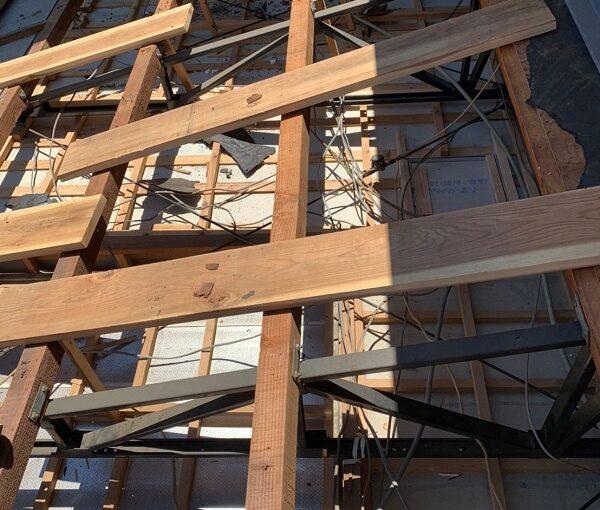 徳島県小松島市 N様邸 屋根葺き替え工事 下地の補強・張替え 野地板とは (3)
