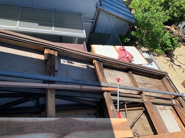 徳島県小松島市 N様邸 屋根葺き替え工事 下地の補強・張替え 野地板とは (8)