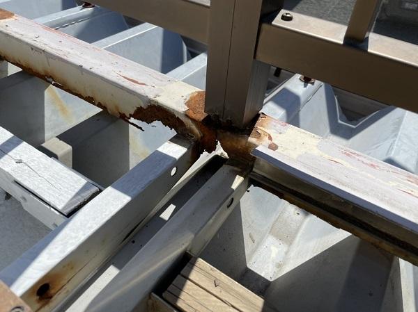 徳島県鳴門市 Y様邸 屋根塗装・外壁塗装・付帯部塗装 ベランダ鉄部 溶接補修 (1)