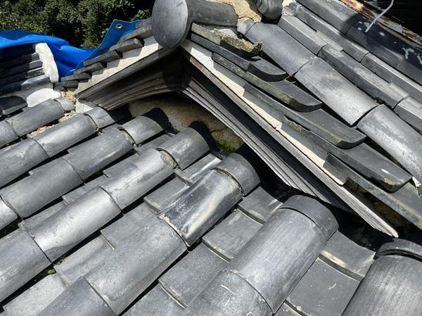 徳島県阿南市 O様邸 雨漏り補修(屋根漆喰補修) 現地調査 雨漏りの怖さ (4)