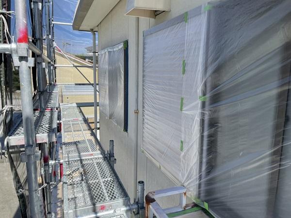 徳島県鳴門市 Y様邸 屋根塗装・外壁塗装・付帯部塗装 養生 屋根下塗り (2)