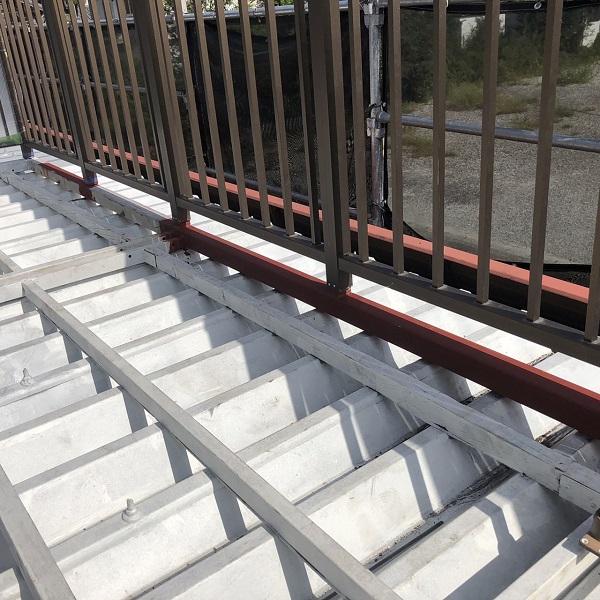 徳島県鳴門市 Y様邸 屋根塗装・外壁塗装・付帯部塗装 ベランダ鉄部 溶接補修 (4)