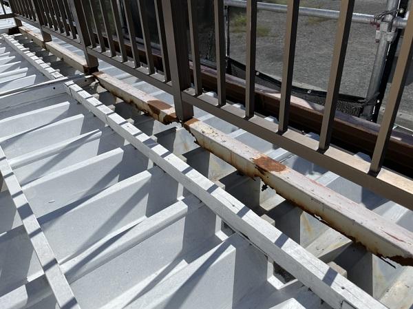 徳島県鳴門市 Y様邸 屋根塗装・外壁塗装・付帯部塗装 ベランダ鉄部 溶接補修 (2)
