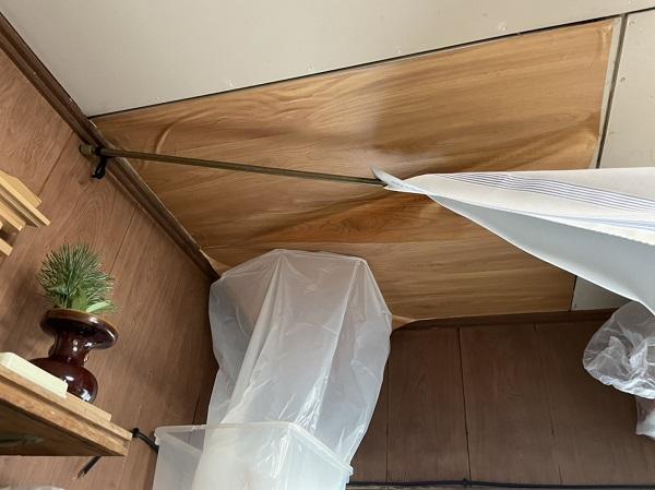 徳島県名西郡石井町 M様邸 雨漏り補修 現場調査の様子 (1)