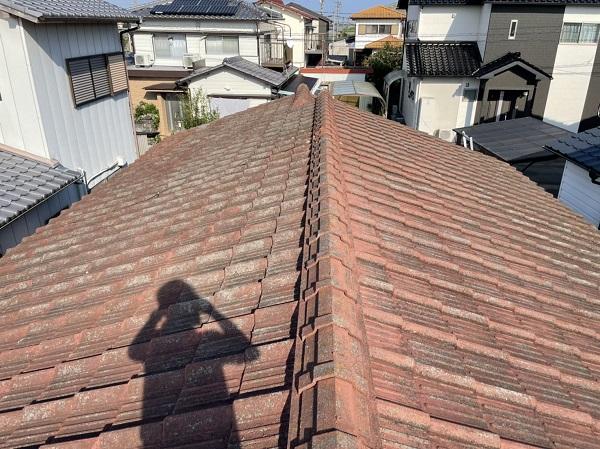 徳島県名西郡石井町 M様邸 雨漏り補修 現場調査の様子 (2)